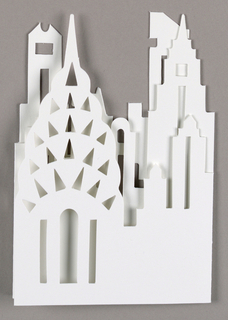 Cut-out of New York City skyline