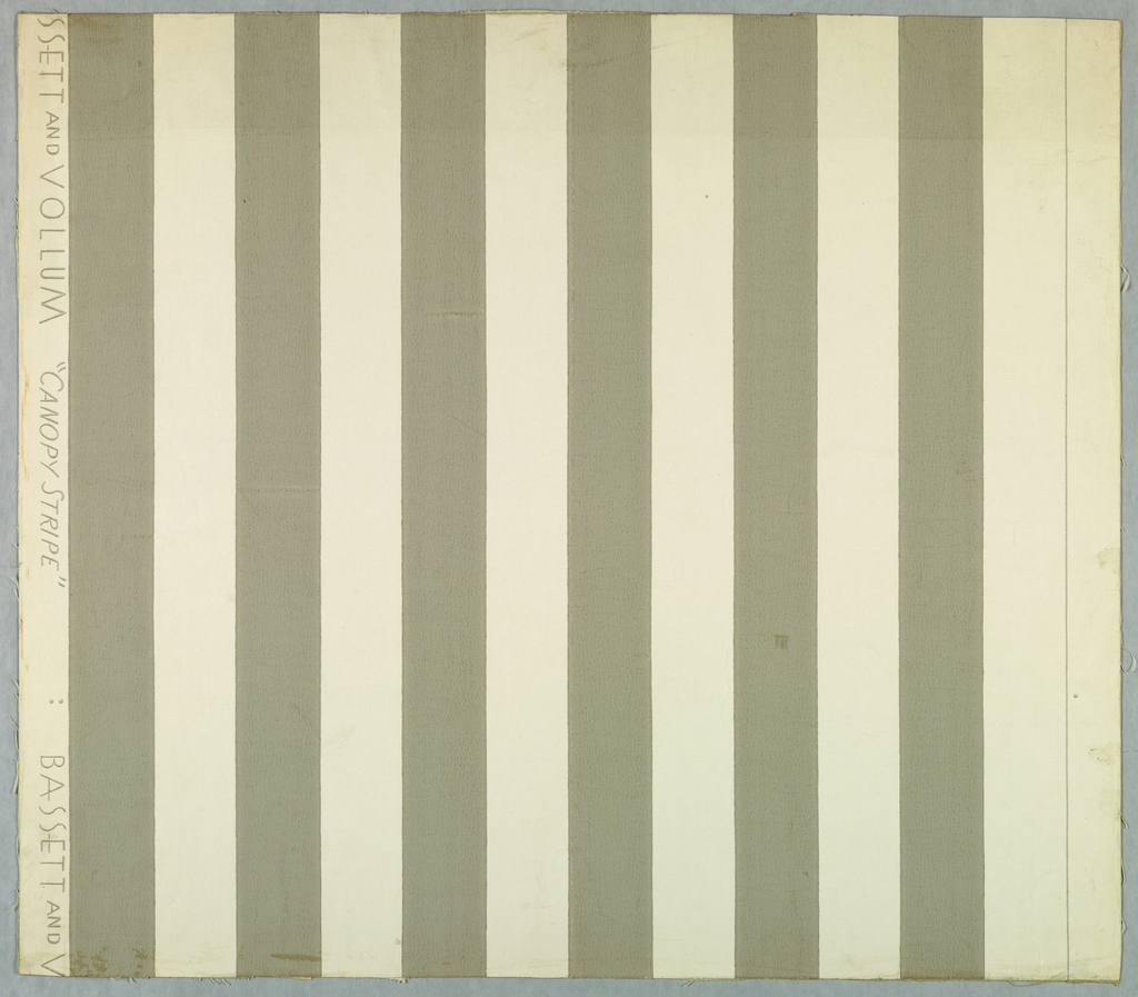 Stripes, about one inch in width, printed in gray on white.