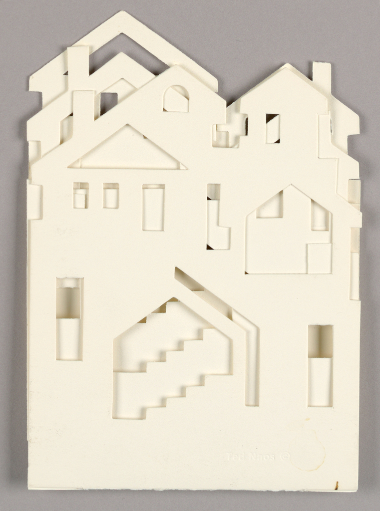 Pop-up Card, Roof Tops and Chimneys