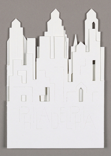 Cut-out of downtown Philadelphia skyline