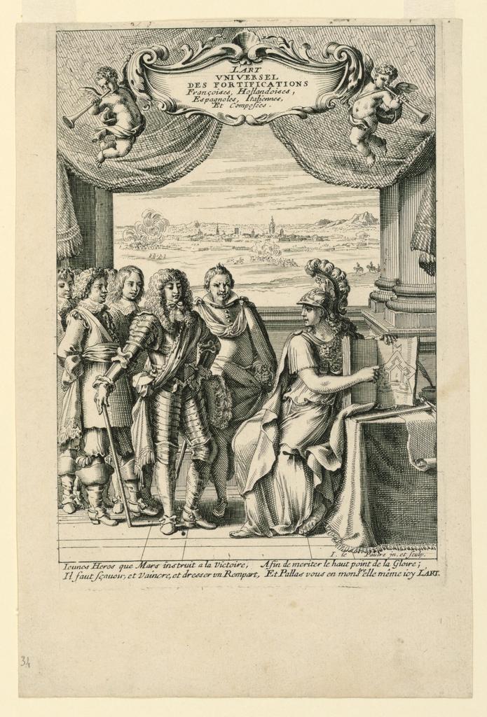 """Print, Title Page, from """"L'Art Universel des Fortifications Françoises, Hollandoises, Espagnoles, Italiennes et Composées"""""""