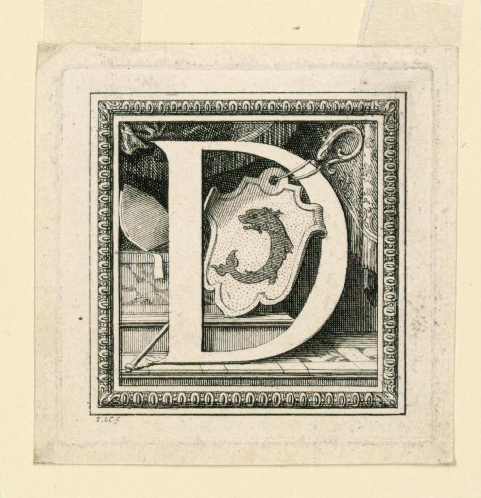 """Print, Letter D, for Baluze's """"Histoire générale de la Maison d'Auvergne"""""""