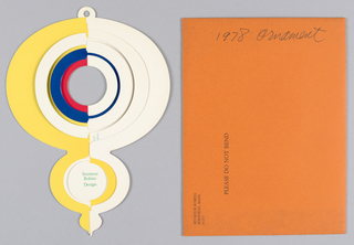 Card, Ornament, 1978
