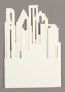 Cut-out of downtown Houston skyline