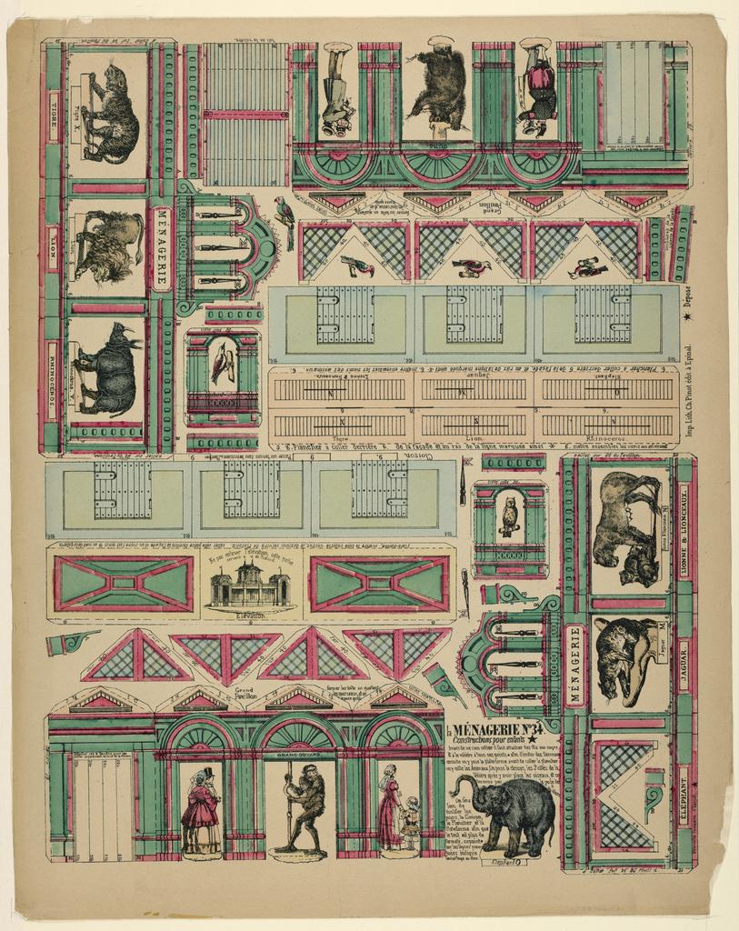 Print, Cut-out Construction: Ménagerie