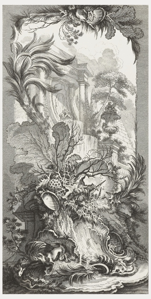Print, Rocaille (Rock Garden), from Nouveaux morceaux pour des paravants (New Designs for Screens)