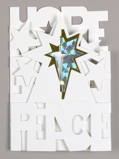 Greeting Card, Peace Love Hope, 1995