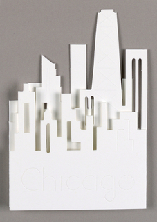 Cut-out of downtown Chicago skyline