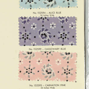 Based on 18th century and early 19th century designs, the collection includes ten wallpaper samples with matching textile samples, three wallpapers without matching fabrics and four fabrics without matching wallpaper. Illustrated, with explanatory notes.