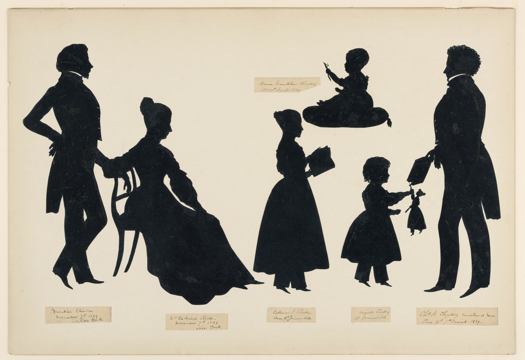 Silhouette, Clinton Family, 1839