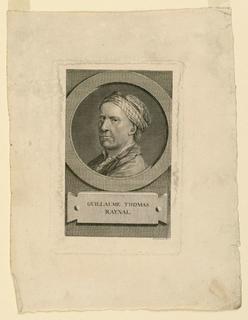 Print, Guillaume Thomas Raynal, ca. 1790