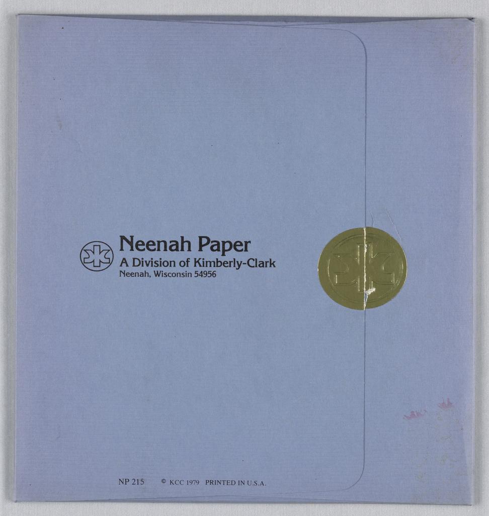 Card, Neenah Arch, 1978
