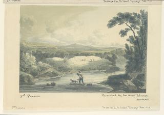 """Fragment of an 1840 """"papier print"""" or wallpaper."""