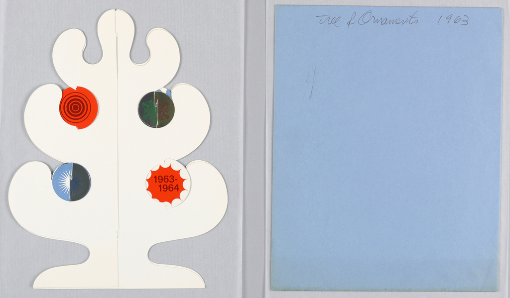 Card, Tree and Ornaments, 1963