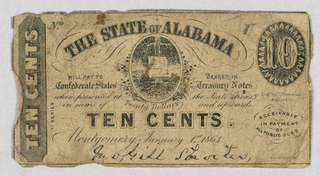Odd States 1830 - 1860s  1 dollar; 50 cent; 10 cent