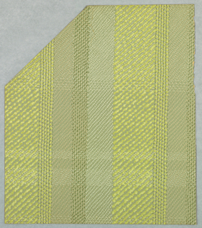 Imitation of a woven textile with vertical stripes.
