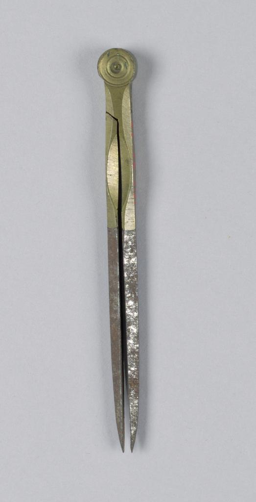 Hinged metal tool.
