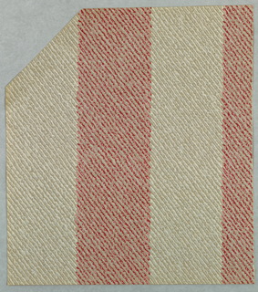 Imitation of a woven textile with alternating red and white wide stripes.