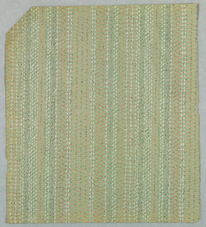 Imitation of a woven textile. Pink and taupe narrow vertical stripes.