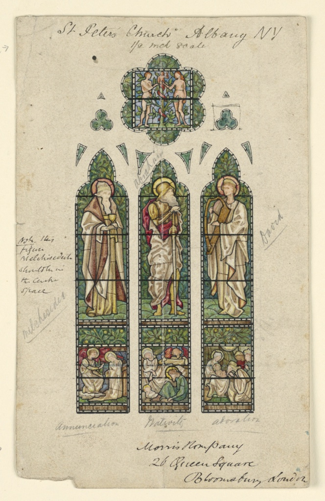 Drawing, Saint Peter's Church, Alb