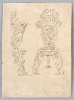 Drawing, TWO CHAIRS, ca. 1580