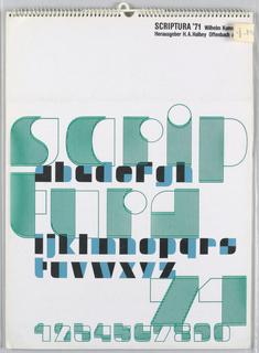 Calender, Scriptura '71