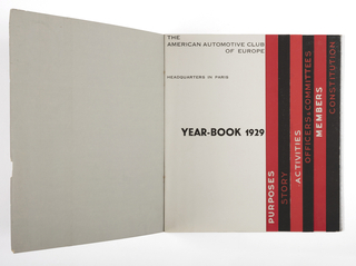 Book, American Automotive Club of Europe Year-book