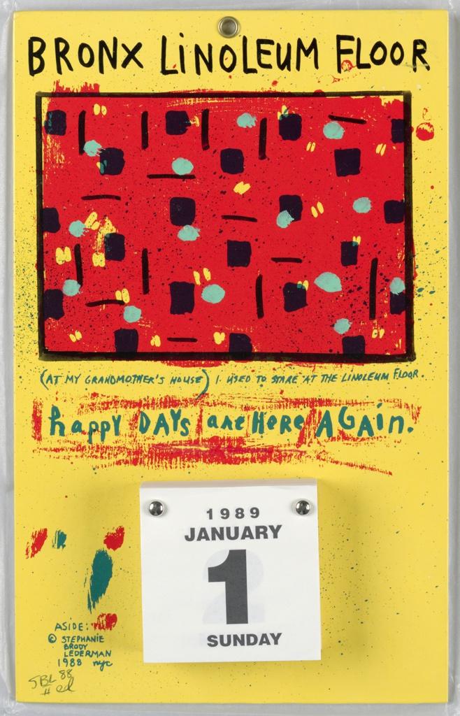Calendar, Bronx Linoleum Floor, 1989