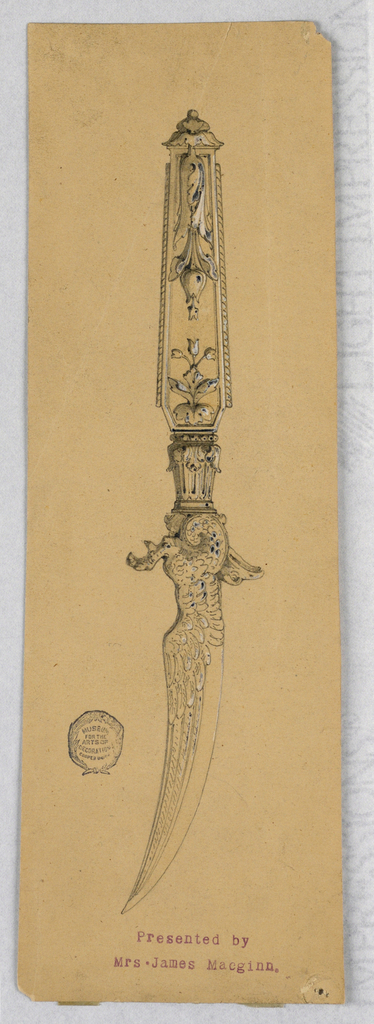 Drawing, Design for a Paper Knife