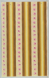 Floral stripe on textrued paper