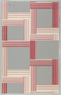Pink framework on gray