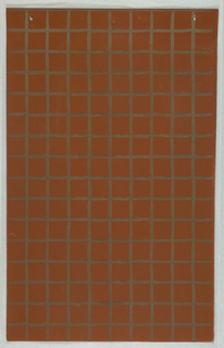 Rust-color paper with metallic gold grid.