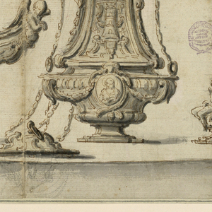 Drawing, Design for Ecclesiastical Utensils, early 18th century