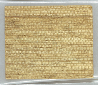 Sand colored grass cloth. Medium wide fiber.