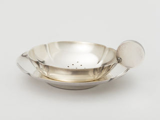 Tea Strainer And Tray (Austria), ca. 1935