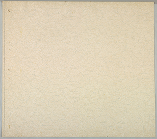 A textured paper with pigment applied in a sponge-like manner. Very pale brown, gray and off-white.