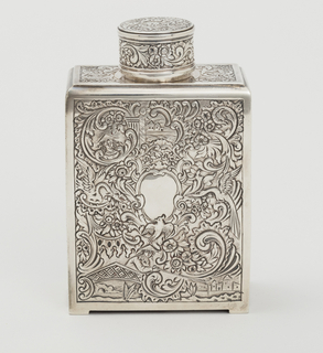 Tea caddy with lid