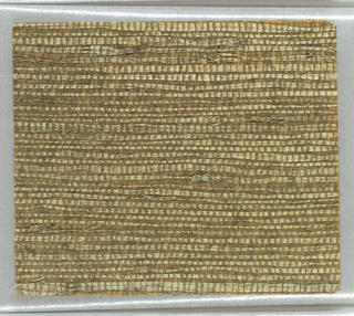 Woven with tan or greenish fibres on a tan background.