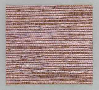 Narrow lavender fibers on a metallic copper ground.