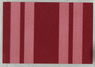 All-over red pattern, with wide moire stripe alternating with double narrow stripe. Tekko.