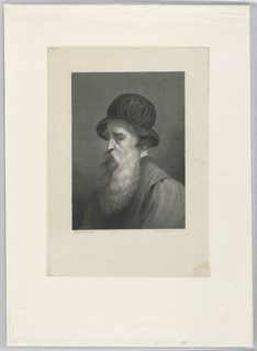 Print, Man with Beard and Hat