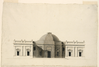 Drawing, Elevation and Plan of a Casino, ca. 1797