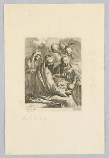 Print, St. Anne with Seraphin