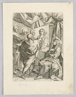 Print, St. Luke Painting of Virgin