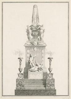 Print, Catafalque, 1781