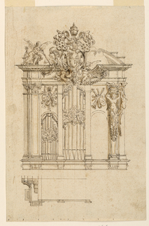 Drawing, Organ Case with Arms of P, 1655–67
