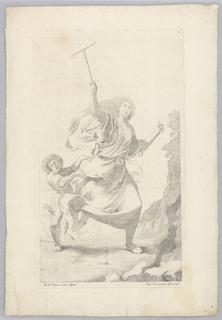Print, Female Figure and Child