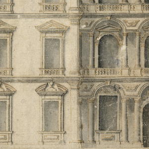 Drawing, Palace Façade Elevation, 1680–1720
