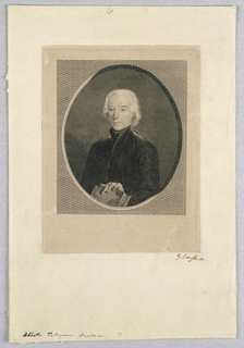 Print, Man with Book