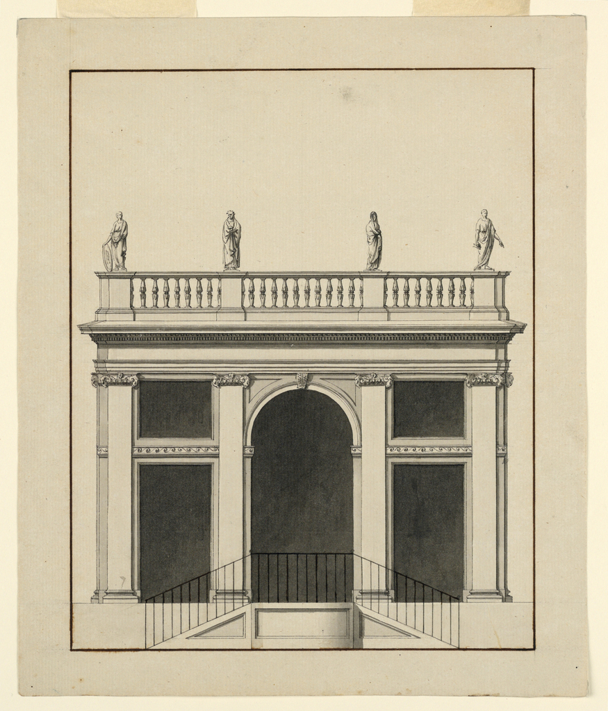 Drawing, Pavilion, Elevation